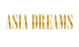 The words Asia Draems in gold color