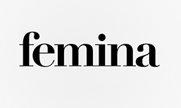 The word femina in black