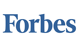 The word Forbes in blue