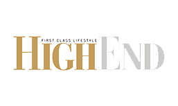 The High End Magazine logo