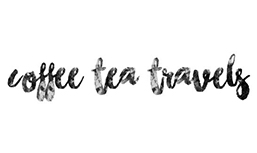 The word coffee tea travels