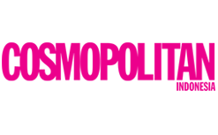 The words cosmopolitan Indonesia in Pink