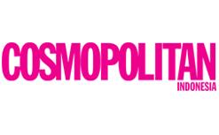 The words cosmopolitan Indonesia in Pink
