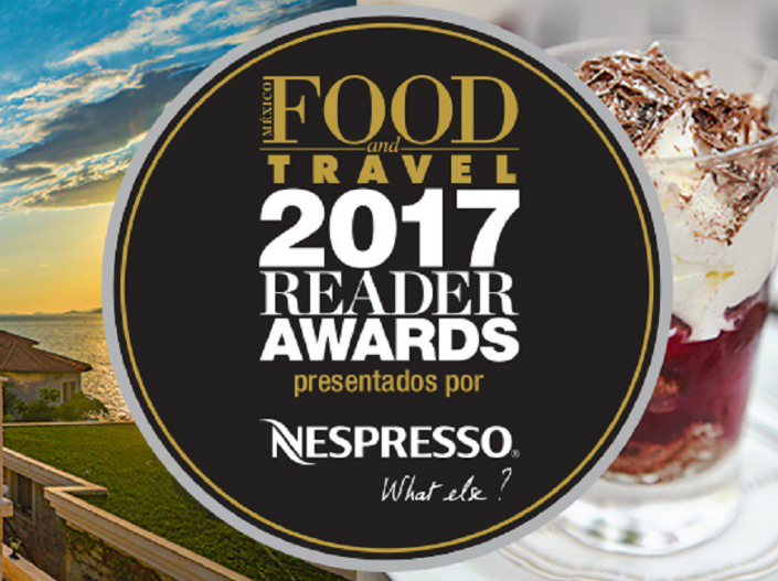 The icon for food travel reader awards
