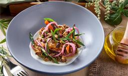 super tasty pumpkin salads provided by Cuca Bali Restaurant in Jimbaran