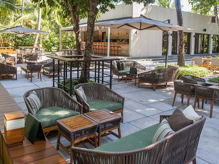 Cuca Bali Restaurant' outdoor longue