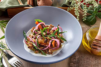 Honey Baked Pumpkin Salad at Cuca Restaurant in Bali