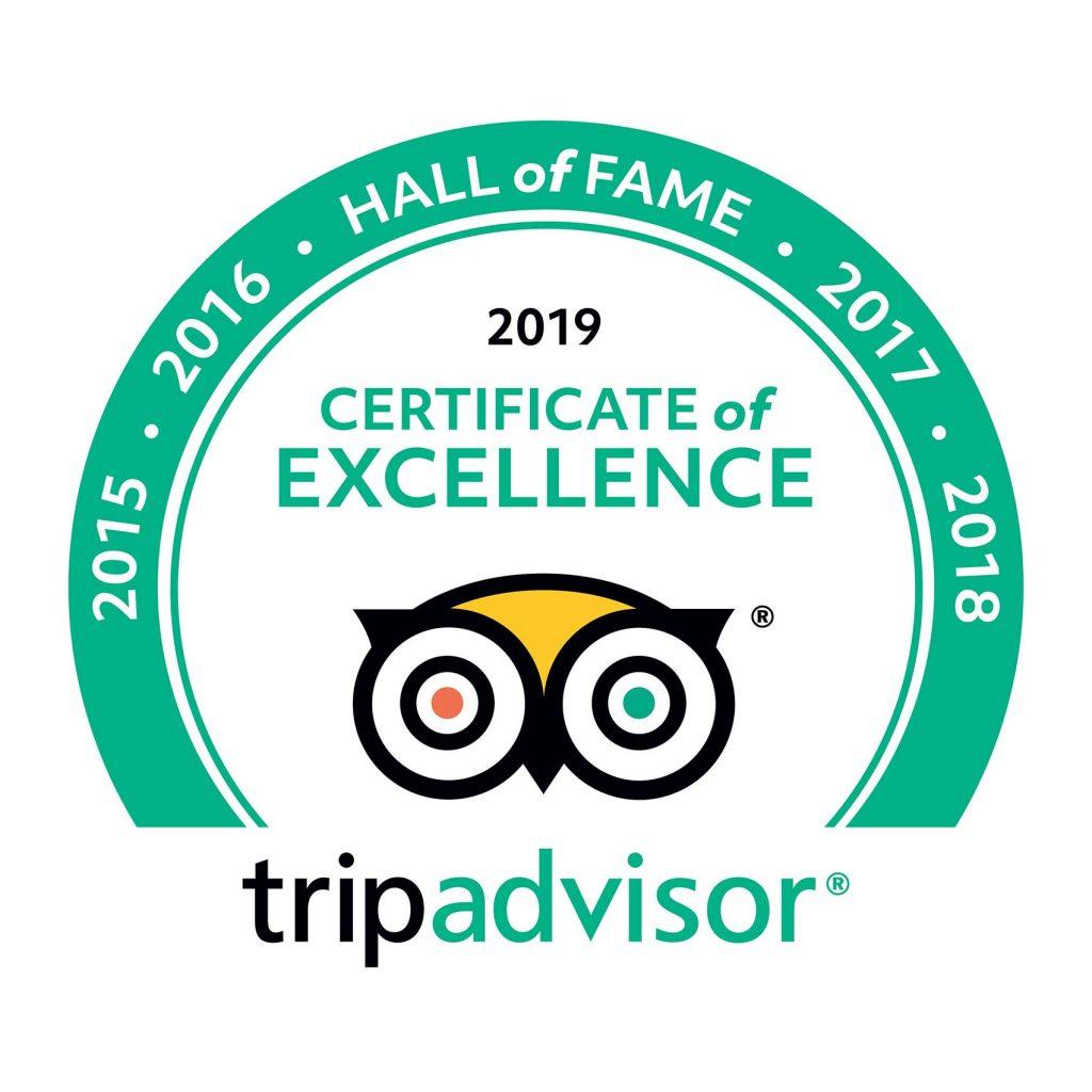 certification from TripAdvisor