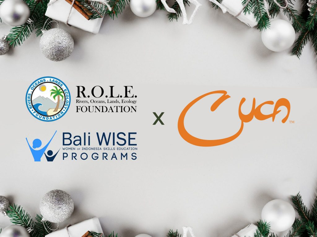 The icon for the cooperation between Cuca, Bali Wise and Role Foundation