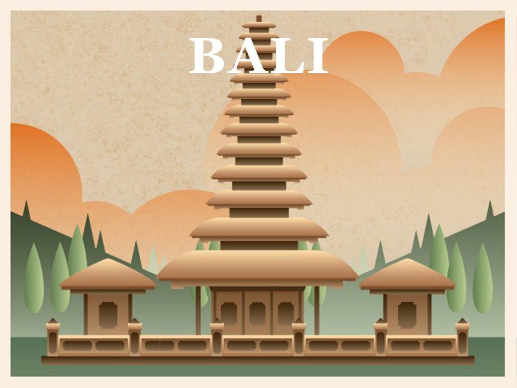 Beautiful temple in Bali
