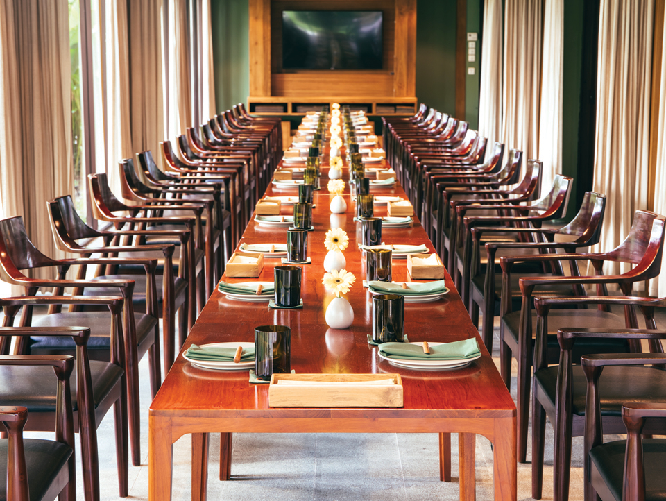 a nice set up of Cuca Bali priviate dining room